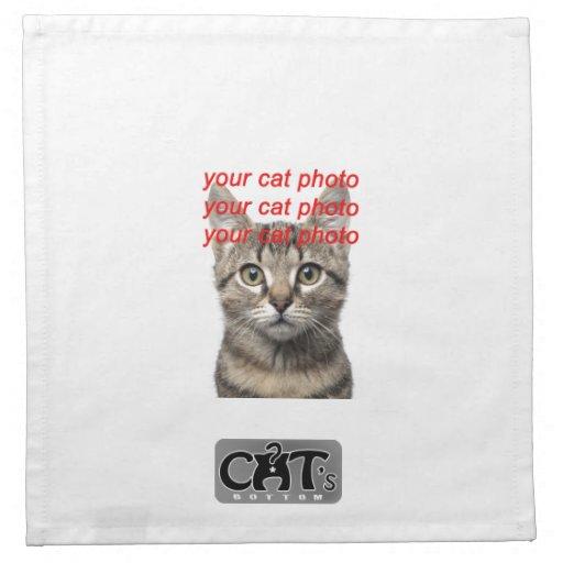 Custom Photo Cat Napkins (Clean cat mess)