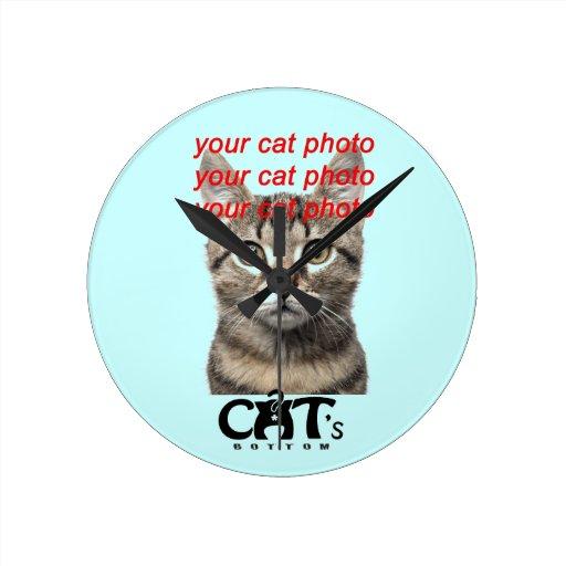 Custom photo Cat's Bottom Clock