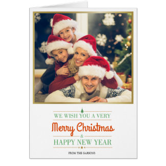 Custom Photo Christmas Greeting Card