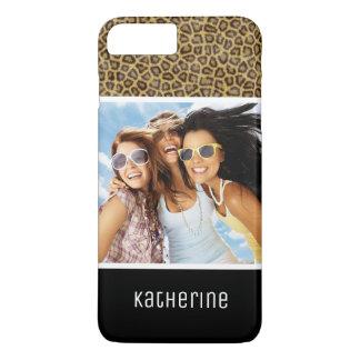 Custom Photo & Name Leopard Fur iPhone 8 Plus/7 Plus Case