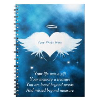 Custom Photo Notebook - Angel of the Heart