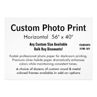 "Custom Photo Print - Horizontal 56"" x 40"""