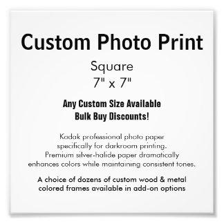 "Custom Photo Print - Square 7"" x 7"""