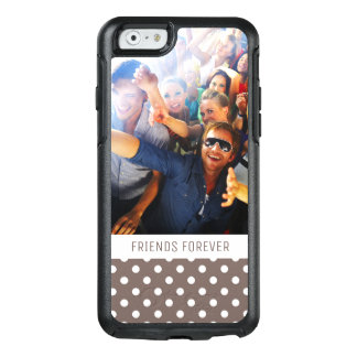 Custom Photo & Text Brown Polka Dots OtterBox iPhone 6/6s Case