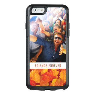 Custom Photo & Text Fallen Wet Leaves OtterBox iPhone 6/6s Case