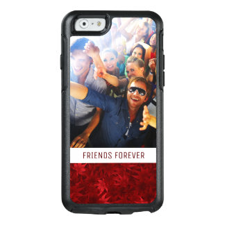 Custom Photo & Text Red maple leaves pattern OtterBox iPhone 6/6s Case
