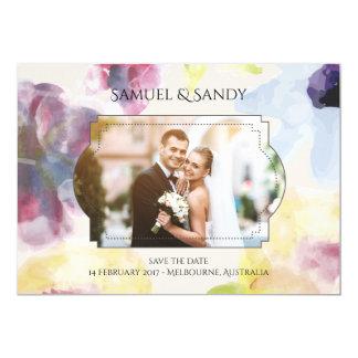 Custom Photo Wedding Invitation Card Colorful Soft