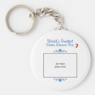 Custom Photo! Worlds Greatest Golden Retriever Mix Key Ring