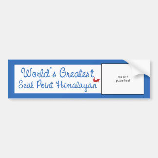 Custom Photo! Worlds Greatest Seal Point Himalayan Bumper Sticker