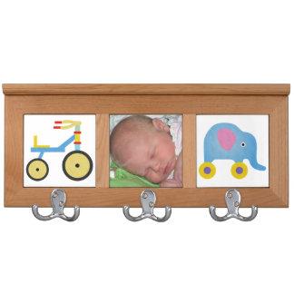 Custom Photograph Blue Baby Coat Rack