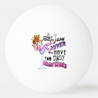 CUSTOM PING PONG BALLS - TOO MANY MARTINIS