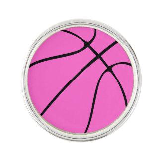 Custom Pink Basketball Lapel Pin