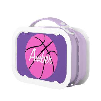 Custom Pink Basketball Lunch Box
