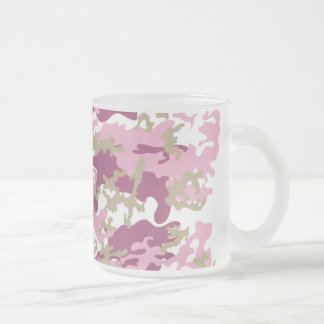 Custom Pink Camo Frosted Beer Mug