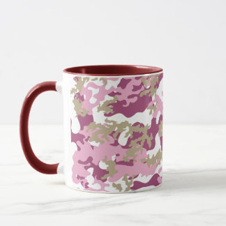 Custom Pink Camo Glass Mug