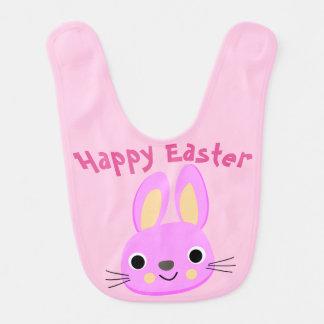 Custom Pink Happy Easter Baby Bib