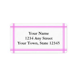 Custom Pink & White Envelope Address Labels Personalized Address Labels