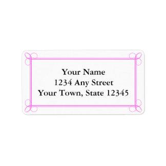 Custom Pink & White Envelope Address Labels Personalized Address Label