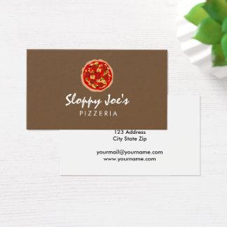Custom pizza maker business card template