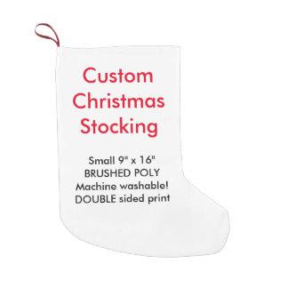 "Custom Poly Christmas Stocking 9""x16"" 2-side print"