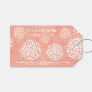 Custom Pom Poms Wedding Floral Gift Tag