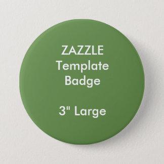 "Custom Print 3"" Large Round Badge Blank Template"