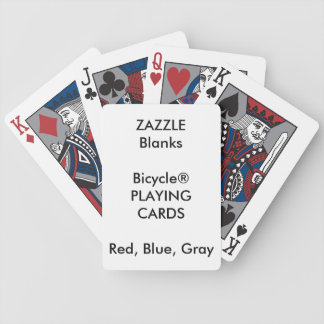 Custom Print Bicycle® BLUE RED GRAY Playing Cards