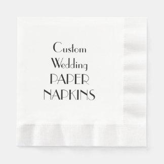 Custom Print Wedding Party Paper Napkins