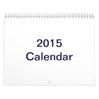 Custom Printed 2015 Calendar