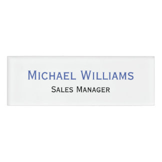 Custom Professional Executive Title Plain Magnetic