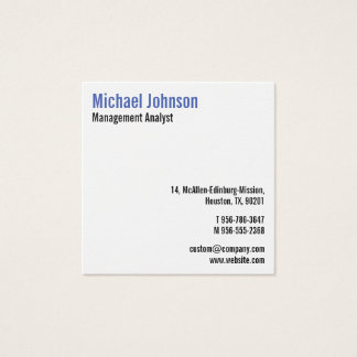 Custom Professional Modern Simple Cool Elegant Square Business Card
