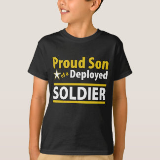 Custom Proud Son of a Deployed Soldier Tshirts