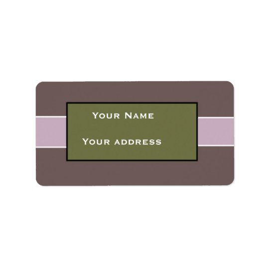 Custom Purple Address Labels