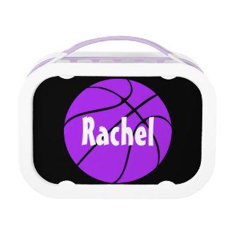 Custom Purple Basketball Lunch Box