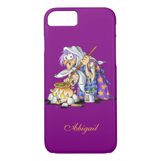 Custom Purple iPhone 7 Cases With Purple Witch