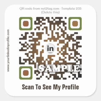 Custom QR code sticker (QR code template #235)