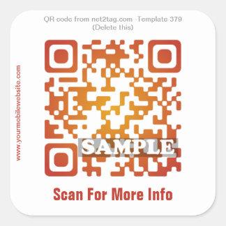Custom QR code sticker (QR code template #379)