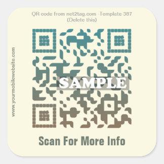 Custom QR code sticker (QR code template #387)
