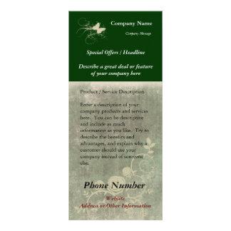 Custom Rack Card, Green Design (Spa, Health, Hair Rack Card