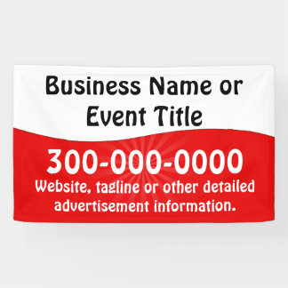 Custom Red and White Business Advertising Banner