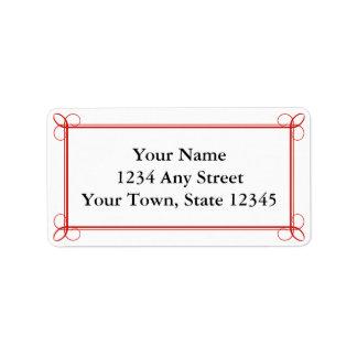 Custom Red Envelope Pre-Addressed Mailing Labels Address Label