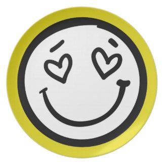 Custom Retro Yellow Smiley Face Plate