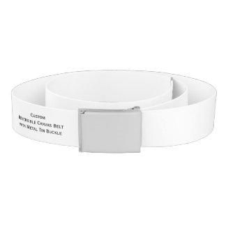 Custom Reversible Canvas Belt w/ Metal Tin Buckle