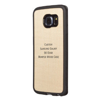 Custom Samsung Galaxy S6 Edge Bumper Wood Case