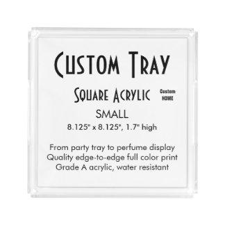 Custom Serving Tray - Acrylic Small Square