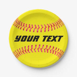 Custom Softball Paper Plates