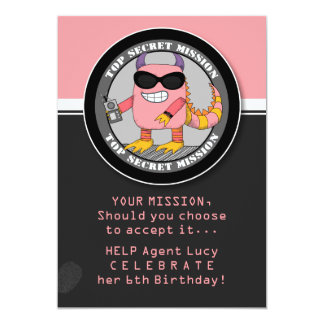 Custom SPY Birthday Party Invitation