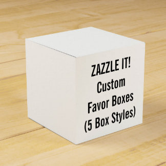 Custom SQUARE Favor Boxes Blank Template