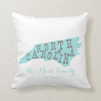 "Custom State Pillow North Carolina 16""x16"""