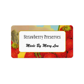 Custom Strawberry Crate Art Canning Labels